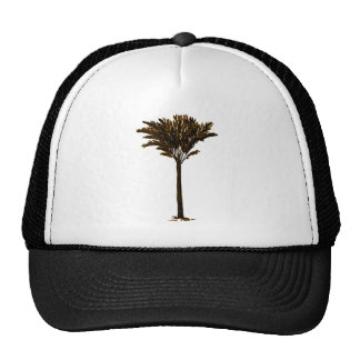 Palm Tree 2 Gold The MUSEUM Zazzle Gifts Mesh Hat