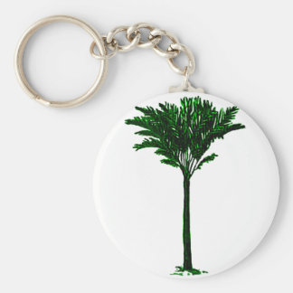 Palm Tree 2 Green The MUSEUM Zazzle Gifts Keychain