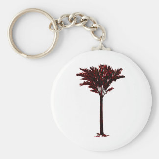 Palm Tree 2 Red The MUSEUM Zazzle Gifts Key Chain