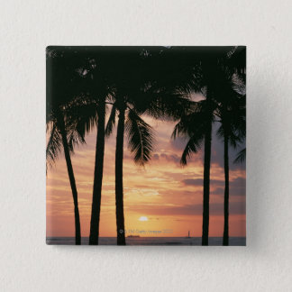 Palm Tree 3 15 Cm Square Badge