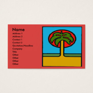 Palm Tree  Abstract Business Card