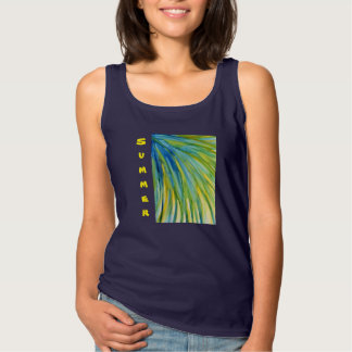 Palm Tree Abstract Watercolor Singlet