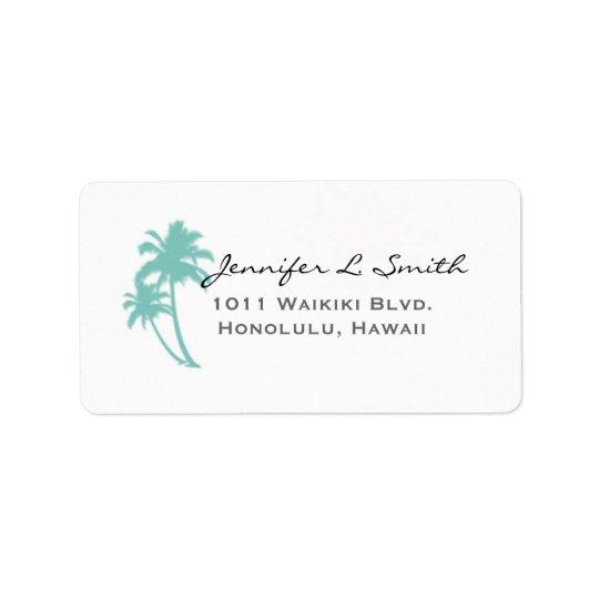 Palm Tree Address Labels
