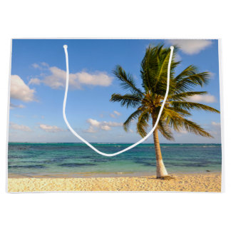 Palm Tree and Beach Large Gift Bag