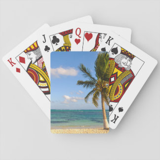 Palm Tree and Beach Playing Cards