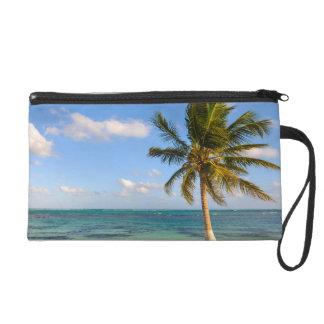 Palm Tree and Beach Wristlet