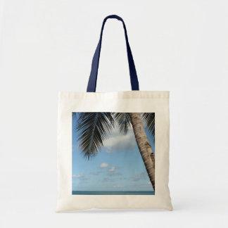 Palm Tree and Caribbean Sea Tote Bag