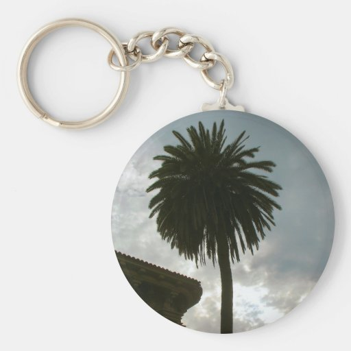 palm tree and clouds keychain