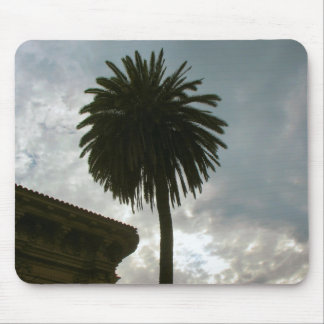 palm tree and clouds mouse pad