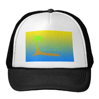 Palm tree and margarita trucker hat