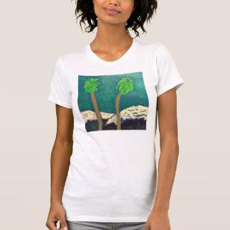 Palm Tree And Mountains Shirt by Julia Hanna