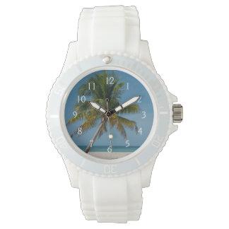 Palm tree and white sand beach  2 watch