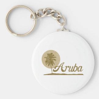 Palm Tree Aruba Keychain