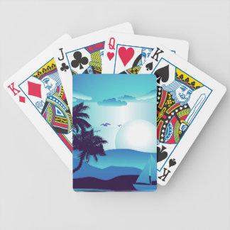 Palm Tree at Night 4 Poker Deck