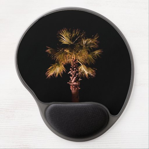 Palm tree at night gel mouse mat