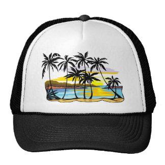 Palm Tree Background Trucker Hats