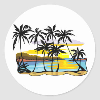 Palm Tree Background Stickers