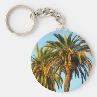 Palm Tree Basic Round Button Key Ring