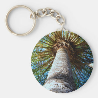 """Palm Tree"" Basic Round Button Key Ring"