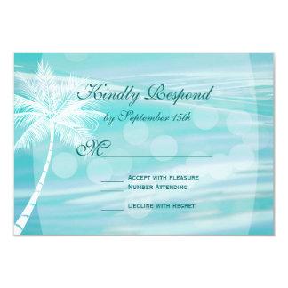 Palm Tree Beach Destination Wedding RSVP Cards 9 Cm X 13 Cm Invitation Card
