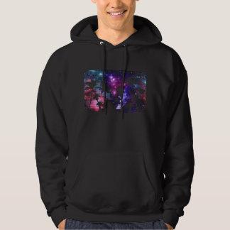 Palm Tree Beach Space Galaxy Star Repeat Hoodie