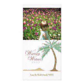 Palm Tree Beach Vertical Photo Card