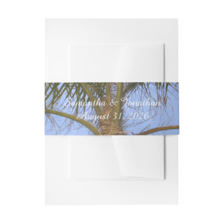 Palm Tree Beach Wedding Belly Bands Invitation Belly Band