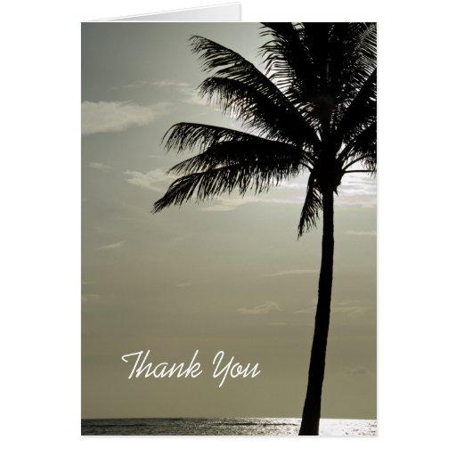 Palm Tree Beach Wedding Bridesmaid Thank You Card