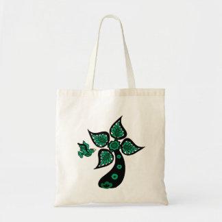 Palm Tree Bird Tote Bag