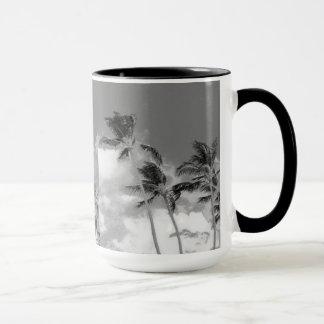 Palm Tree Black and White Photograph Mug