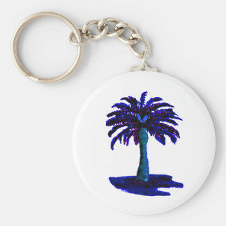 Palm Tree Blue The MUSEUM Zazzle Gifts Key Chains