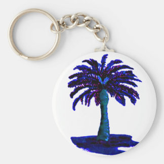 Palm Tree Blue The MUSEUM Zazzle Gifts Key Chain