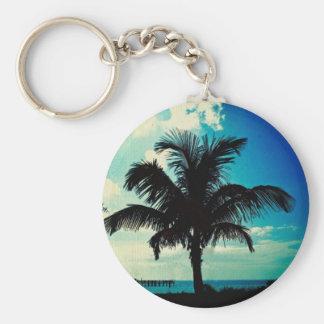 Palm Tree Blues Keychains