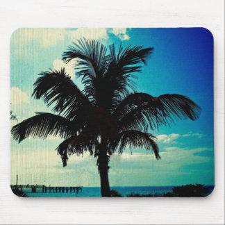 Palm Tree Blues Mousepads