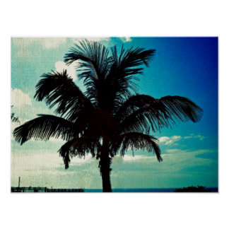 Palm Tree Blues Posters