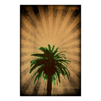 Palm Tree Bold Poster