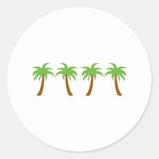 PALM TREE BORDER ROUND STICKERS