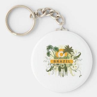 Palm Tree Brazil Keychain