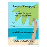 Palm Tree - Card Template - Customised Pack Of Chubby Business Cards