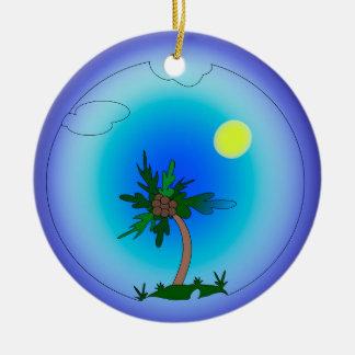 palm tree ceramic ornament