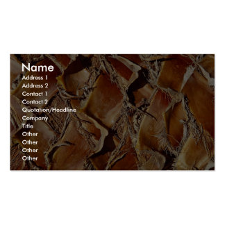Palm tree, close-up business card template