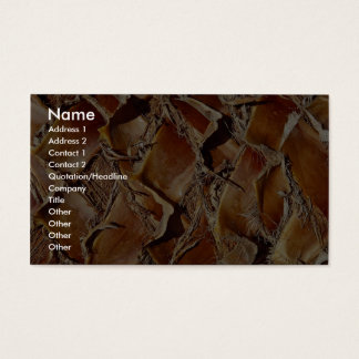 Palm tree, close-up business card