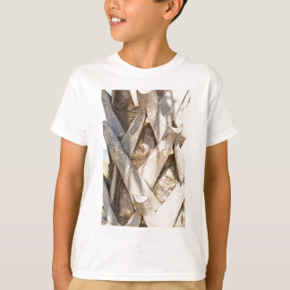 Palm Tree Close Up Detail Abstract Tight Crop T-Shirt