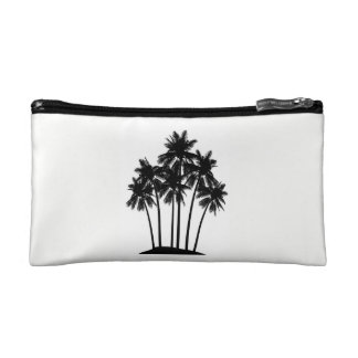 Palm tree cosmetics bag