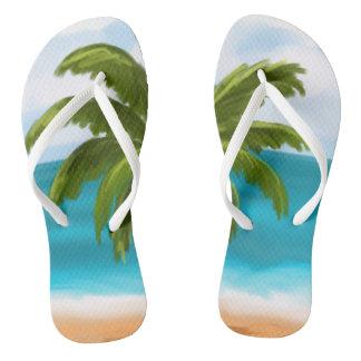 Palm Tree Custom Flip-Flops- make changes yourself Thongs
