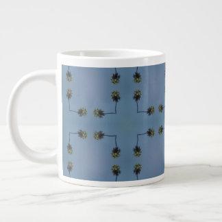 Palm tree design pattern large coffee mug