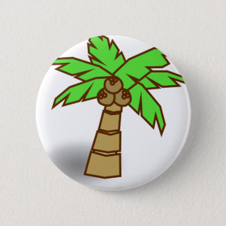Palm Tree Drawing 6 Cm Round Badge