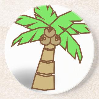 Palm Tree Drawing Coaster