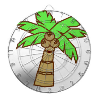 Palm Tree Drawing Dartboard