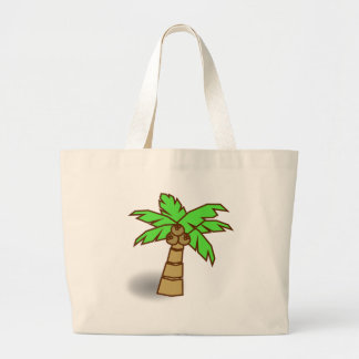 Palm Tree Drawing Large Tote Bag